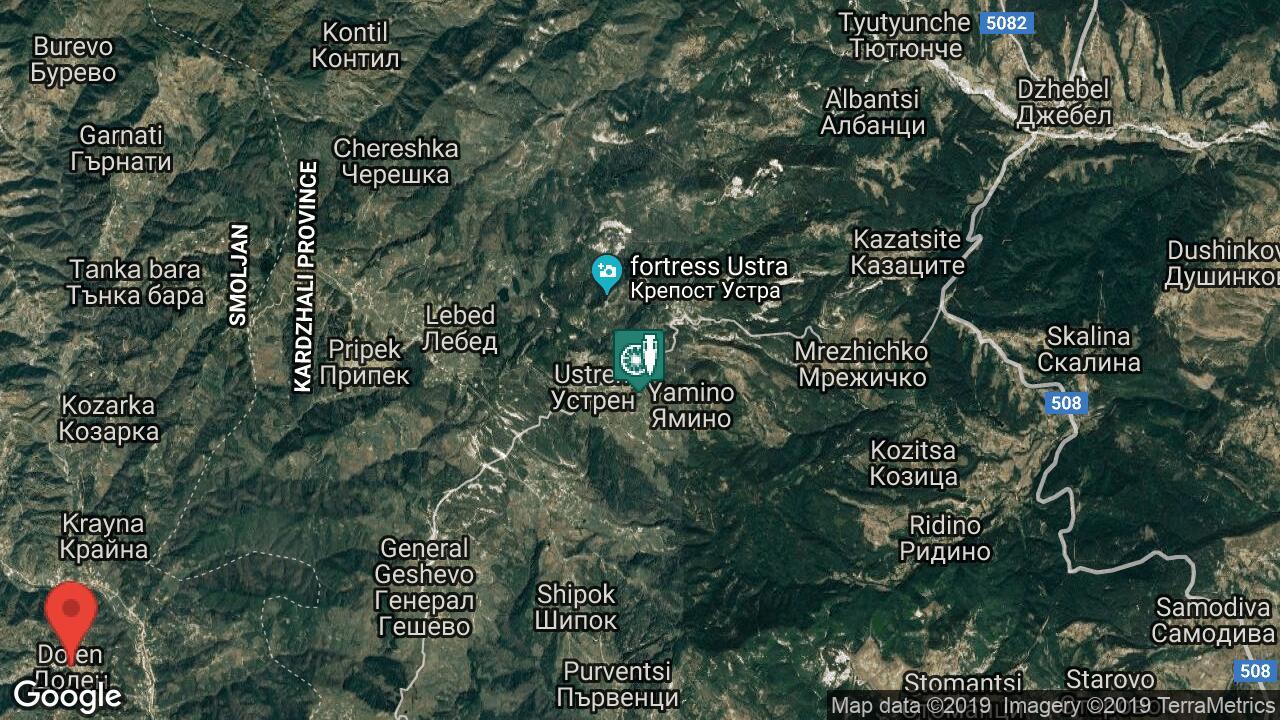 Krepost Ustra Selo Ustren Oblast Krdzhali Obshina Dzhebel
