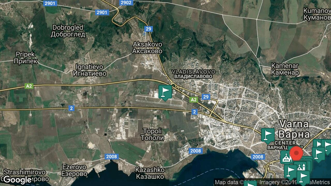 Letishe Varna Aeroport Samolet Telefon Ceni Za Noshuvki S Karta