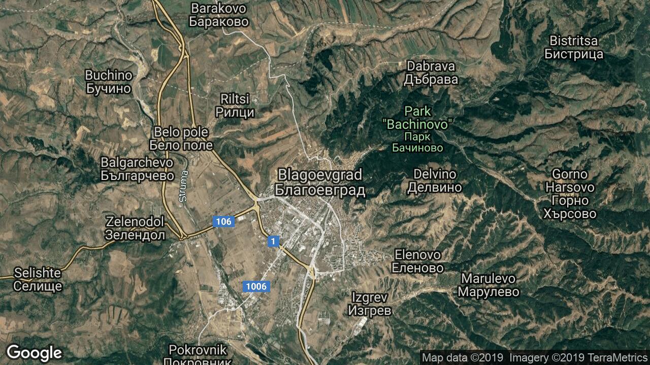 Karta Na Blagoevgrad