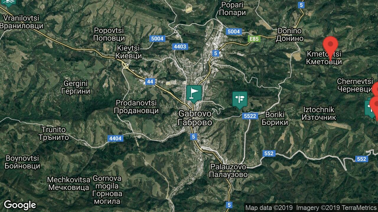 Karta Na Gabrovo