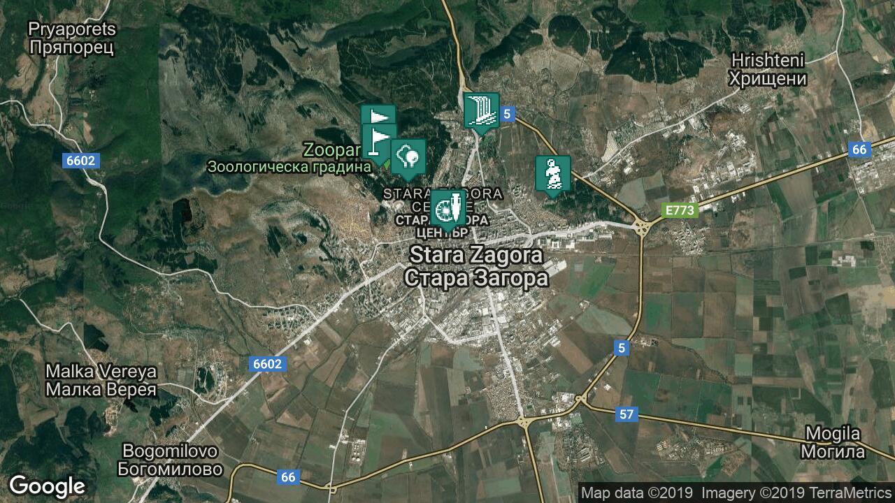 Karta Na Stara Zagora